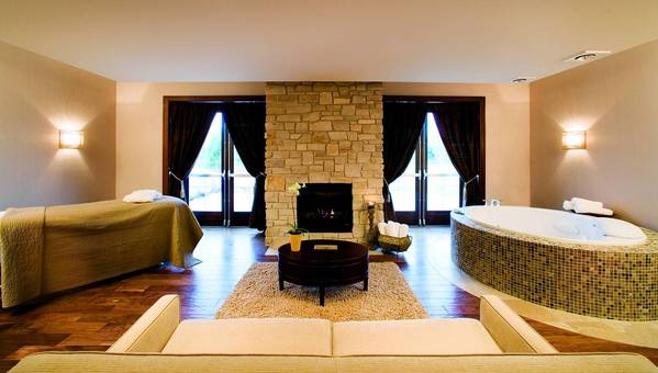 A spa suite in the Aspira Spa, in the Osthoff Resort in Elkhart Lake, Wis.
