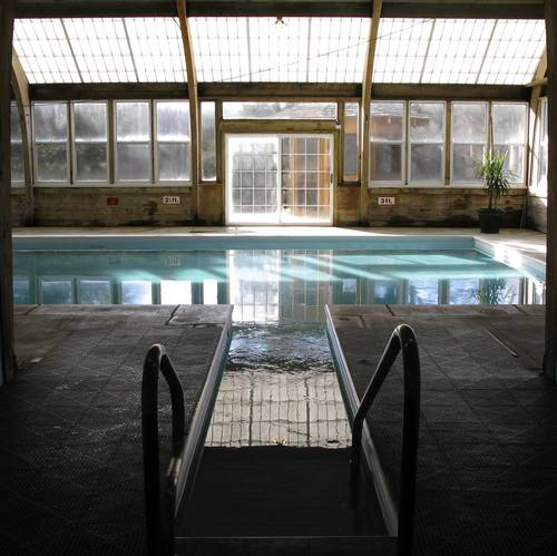 The pool at The Heartland Spa and Fitness Resort in Gilman, Ill.