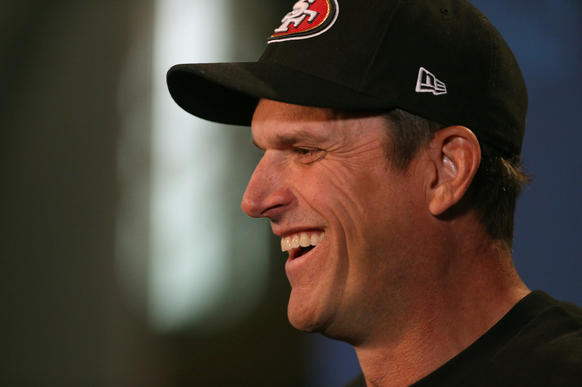 San Francisco 49ers coach Jim Harbaugh said it took him a