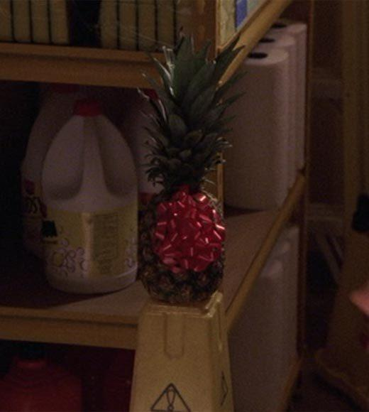 'Psych': The pineapple in (almost) every episode: Shawn and Gus bring a pineapple to the hotline office.  Bonus points: The Gus alias is Gus Sillypants Jackson.  Extra bonus points: Gus, dont be a silly goose and crazy hooligan.