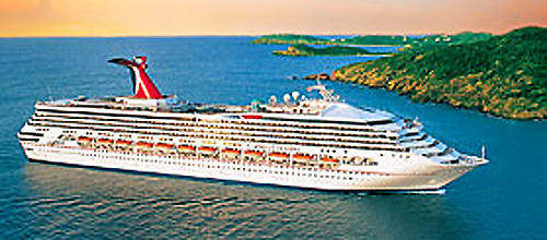 The Carnival Destiny sails from the Port of Miami.