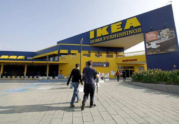 IKEA shoppers go into the N. San Fernando Road store in Burbank.