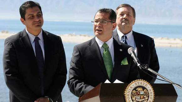 Assemblyman Manuel Perez speaks at a press conference Friday.