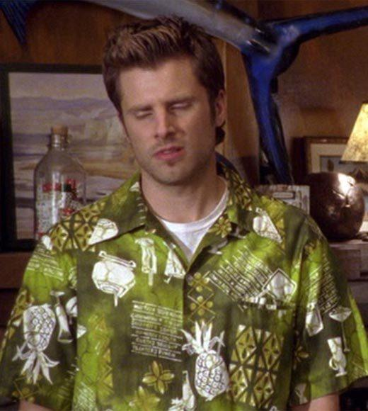 'Psych': The pineapple in (almost) every episode: Henry makes Shawn wear this ugly green shirt, which also happens to have pineapples on it.  Bonus points: The Gus alias is Burton Oil Can Guster.