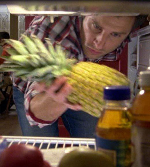 'Psych': The pineapple in (almost) every episode: Shawn grabs a pineapple out of Henrys fridge.  Bonus points: The Gus alias is Schoonie U-Turn Singleton.