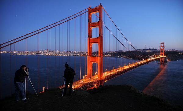 "The Golden Gate Bridge was a popular choice by Travel Show attendees as one of the ""seven wonders of California."""