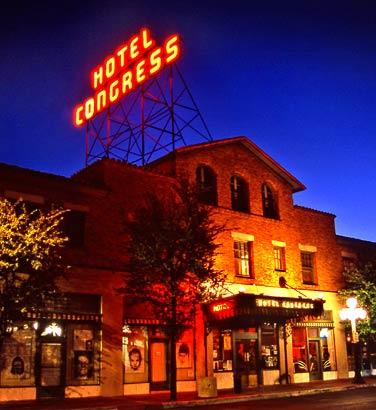 The Hotel Congress in Tucson is home to the Club Congress,  one of the top rock music venues in the country. With more than 300 live shows annually and two or three acts on each bill, about 1,000 bands perform on the Club Congress stage each year.