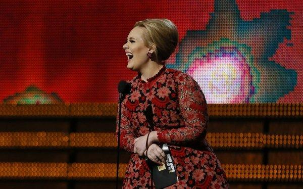 "Adele, who performed the theme to the most recent James Bond film ""Skyfall,"" was a presenter at this year's Grammy Awards."
