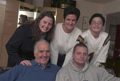 Sun archives: Baltimore Colts photos - Marchetti and his family