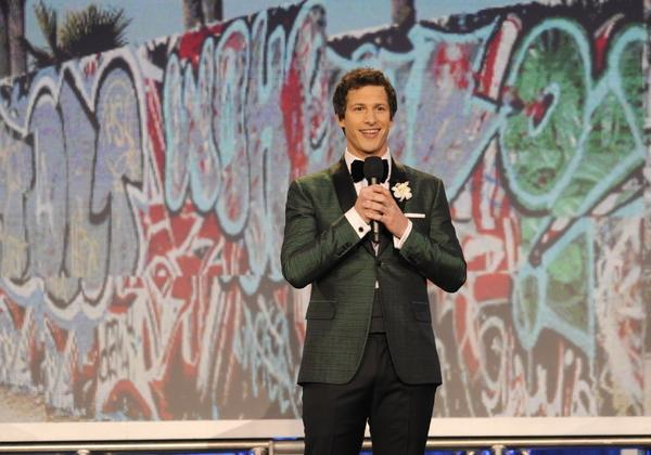 Andy Samberg hosts the Film Independent Spirit Awards in Santa Monica.