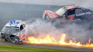 Nationwide Series crash at Daytona