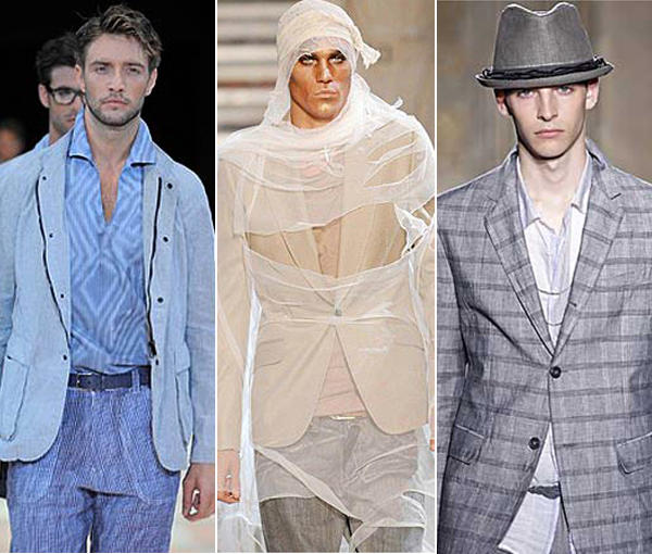 The Spring/Summer 2010 men's runways in Mi