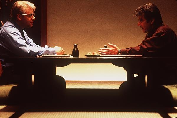 "The 1999 film, based on a ""60 Minutes"" tobacco industry expose, starred Russell Crowe, left, as former tobacco industry insider Dr. Jeffrey Wiegand and Al Pacino as ""60 Minutes"" producer Lowell Bergman."