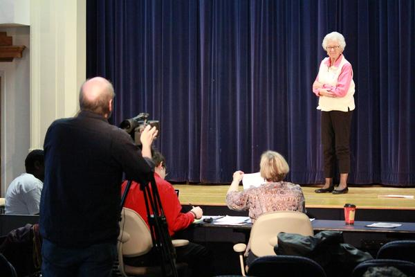 "Mary Anne Smith, of Waynesboro, Pa., auditioned for a role in ""Ghosting,"" on Saturday at Penn State Mont Alto."