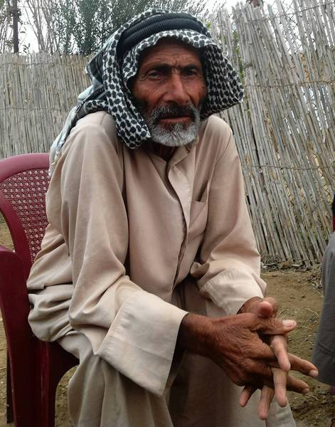 Some believe Ali Ouda, who lives in Jazeera, a village near Ramadi, Iraq, is 115 years old, but nobody knows for sure.