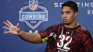 Manti Te'o fields questions about scandal at NFL combine