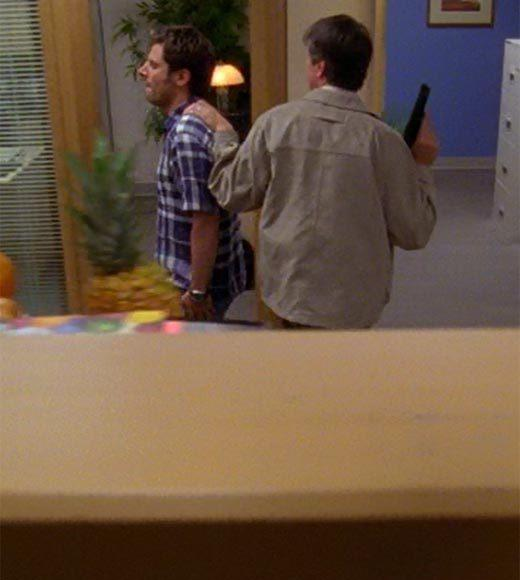 'Psych': The pineapple in (almost) every episode: When Shawn gets taken to the bathroom, theres a pineapple sticking up out of a cubicle.