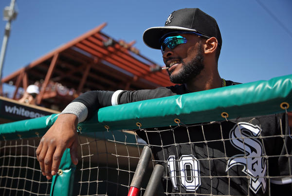 Chicago White Sox' Alexei Ramirez before playing the Los Angeles Dodgers on Saturday.