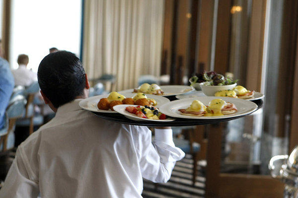 Of the 7.5 million jobs in travel and tourism in the U.S., about 3 million are in food service, such as waiters, with a median salary of about $22,000 per year, according to David Huether, senior vice president for research for the U.S. Travel Assn.