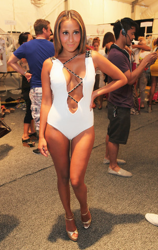 <b>Photos:</b> Mercedes-Benz Fashion Week Swim - Adrienne Bailon