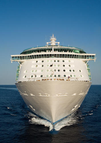 The Royal Caribbean Liberty of the Seas sails out of the Port of Miami, but will be shifting to Port Everglades in 2011.
