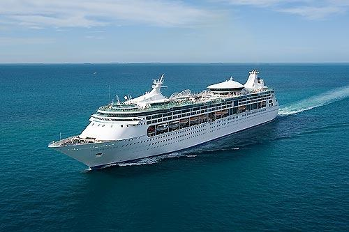 The Royal Caribbean Enchantment of the Seas sails from Port Everglades.