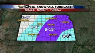 Storm Team 12: Blizzard headed for Kansas - Monday