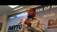 Ray Lewis talks about his son before the Daytona 500