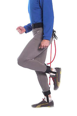 """<b>An efficient system, with strings attached<br> <br> </b><strong>EZ-Run Belt:</strong> Elastic-cord device that helps you pick up your feet.<br> <br> <strong>Likes: </strong>Trains you for a more rapid turnover (the most efficient way to run faster) by helping keep your feet off the ground and by limiting overstriding. Rubber stretch cords, which connect the belt and ankle straps, lift your heels toward your butt and make it harder to fully extend the leg forward. The elastic cords come in three strengths, allowing a progression from the green tubing to the stronger yellow and red tubing. Inventor Joe Sparks, an Ohio triathlon coach, recommends that the device initially be used for 10 minutes at a time, then removed for the rest of the workout.<br> <br> <strong>Dislikes: </strong>Must wear long socks to prevent slight rubbing on the Achilles tendon area.<br> <br> <strong>Price: </strong>$89.95.  <a href=""""http://www.fitnesswithjoe.com"""">http://www.fitnesswithjoe.com</a>  ."""