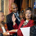 Sworn into office