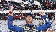 "<a href=""74556630"">Jimmie Johnson</a> has won his second <a href=""74556630"">Daytona 500</a>, racing past defending <a href=""74556630"">NASCAR</a> champion <a href=""74556630"">Brad Keselowski</a> on the final restart, while <a href=""74556630"">Danica Patrick</a> finished eighth."