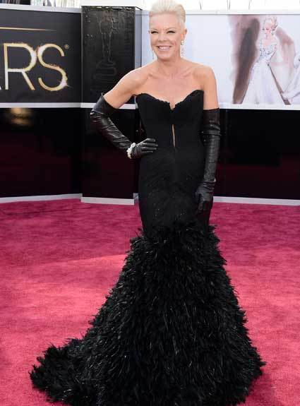 Oscars 2013: Academy Awards red carpet arrival pics: Tabatha Coffey