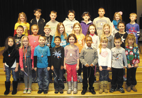 Front row, from left, Courtney Milburn, Taylor Stabler, Tyler Bjerklie, Aaron Dixon, Ella Farbman, Harrison Tisdale, Larissa Blair, Owen Murphy and Olivia Lewis. Middle row, Codey Breeden, Savanah Alston, Landon Marcum, Whitney Rasco, Kaylee Morgan, Reese Sitter, Lydia Ickes and Ava Lewis. Back row, Holly Nash, Gabriel Conder, Chase Jacobs, Sean Baer, Hannah Neal, Nathan Baker, Emma Cole and Emil Nylander.