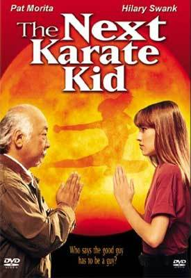 In her first leading film role, Swank played Julie Pierce, the latest apprentice to Pat Morita's sensei, Mr. Miyagi.