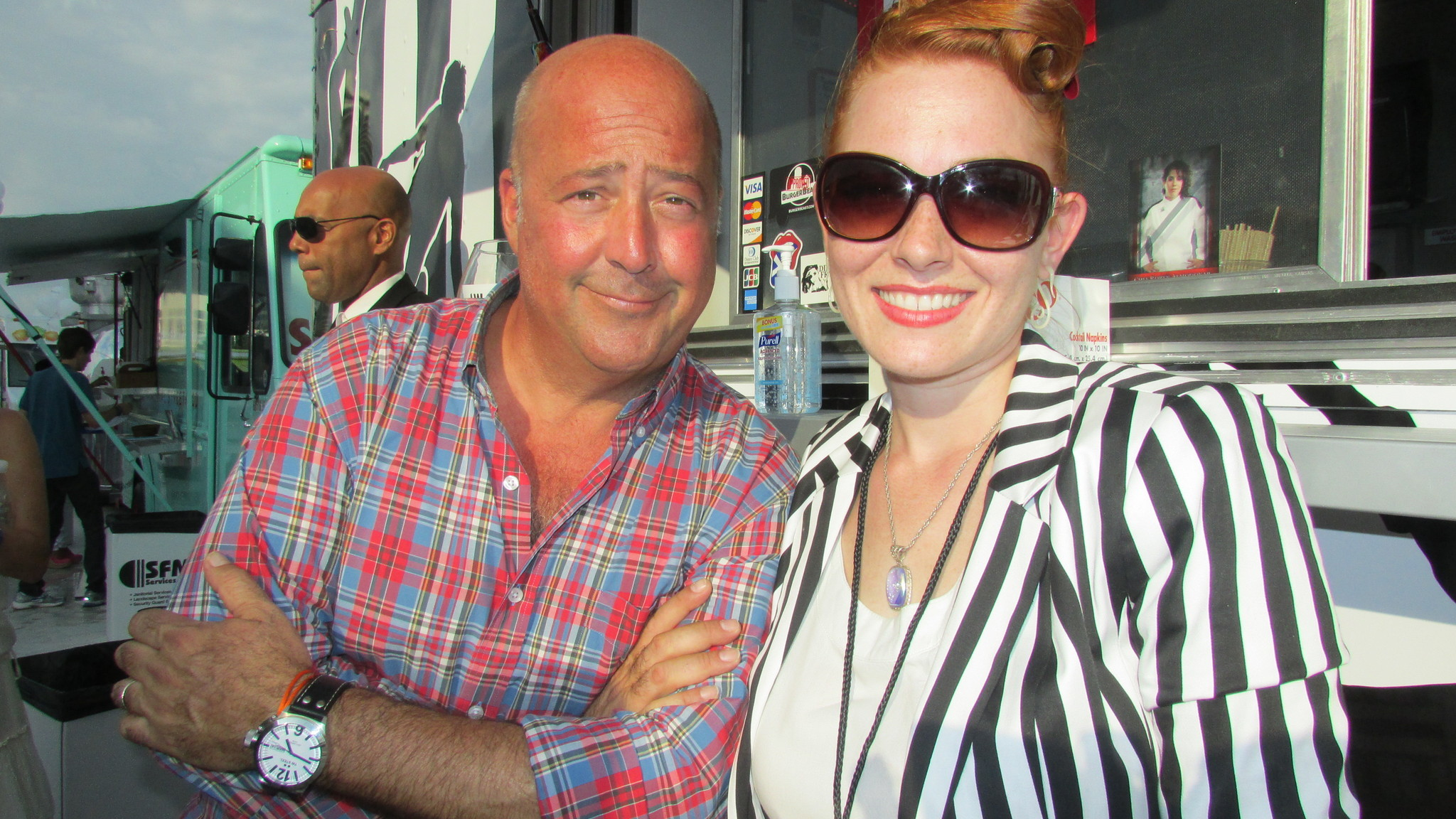 Celeb-spotting at SoBe Wine and Food Festival - Andrew Zimmern at Midtown food trucks