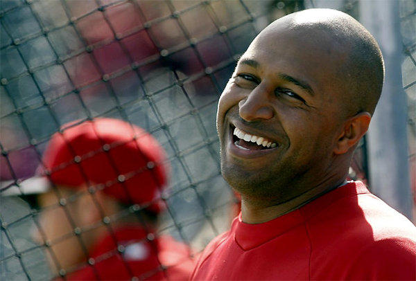 Angels outfielder Vernon Wells at spring training at Diablo Stadium
