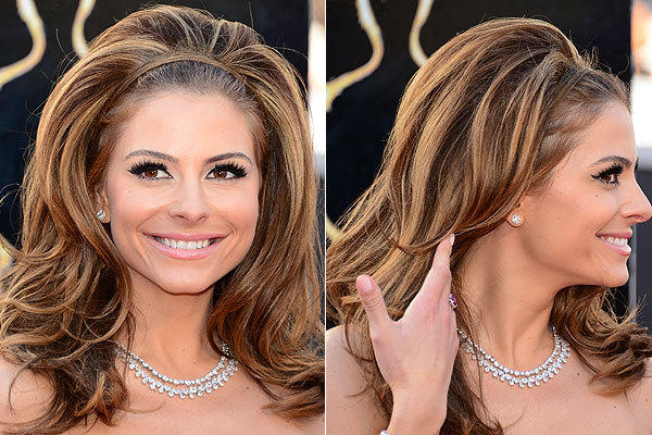 TV personality Maria Menounos attends the 85th Academy Awards.