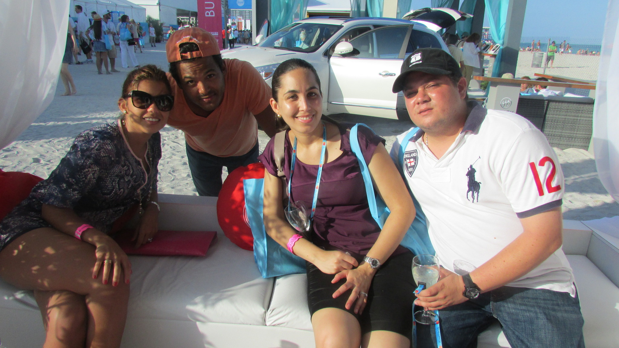 Spot your friends at SoBe Wine and Food Festival - Grand tasting tents