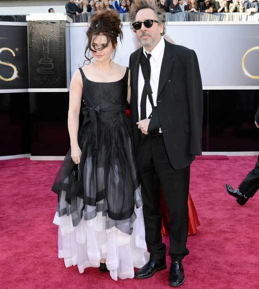Oscars 2013: Academy Awards red carpet arrival pics: Helena Bonham Carter and Tim Burton