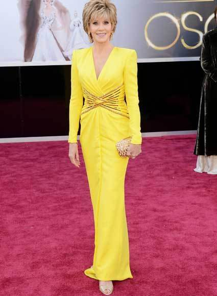Oscars 2013: Academy Awards red carpet arrival pics: Jane Fonda