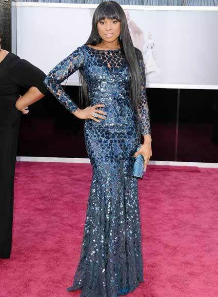 Oscars 2013: Academy Awards red carpet arrival pics: Jennifer Hudson