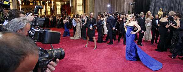 Reese Witherspoon arriving for the 85th Annual Academy Awards on Sunday, February 24, 2013 at the Dolby Theatre at Hollywood & Highland Center in Los Angeles, CA. (Wally Skalij / Los Angeles Times)