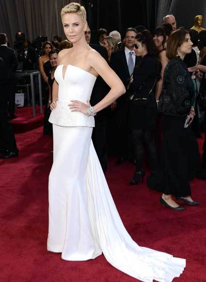 Oscars 2013: Academy Awards red carpet arrival pics: Charlize Theron