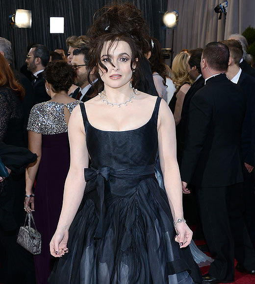"Oh, right. Every time Helena Bonham Carter has been on a red carpet in the past, what, seven years? Points for consistency, we guess, but the ""I just rolled up from begging on the streets of 1890s London"" look is getting tired. <br><br> <i>-- <a href=""http://twitter.com/Zap2itRick"">Rick Porter</a>, <a href=""http://www/zap2it.com"">Zap2it</a></i>"