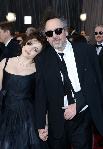 "Longtime couple director Tim Burton and Helena Bonham Carter (""Les Miserables"") arrive at the Oscars. His film, ""Frankenweenie,"" is in contention in the animated feature film category."