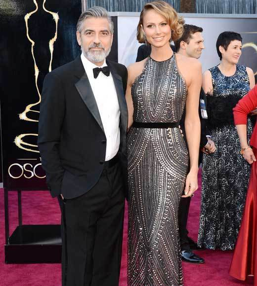 Oscars 2013: Academy Awards red carpet arrival pics: George Clooney and Stacy Keibler