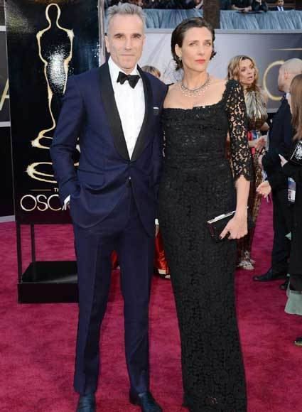 Oscars 2013: Academy Awards red carpet arrival pics: Daniel Day-Lewis and Rebecca Miller