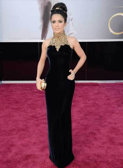 Oscars 2013: Academy Awards red carpet arrival pics: Salma Hayek