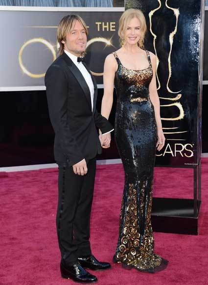 Oscars 2013: Academy Awards red carpet arrival pics: Keith Urban and Nicole Kidman