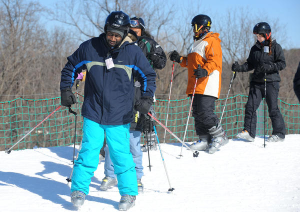 Members of the CHesapeake Ski Club take kids from the Salvation Army Boys and Girls Club to the Whitetail Mountain Resort to expose them to the sports of skiing and snowboarding.